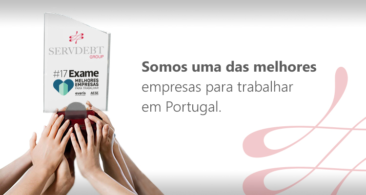 Servdebt was considered one of the best companies to work for In Portugal