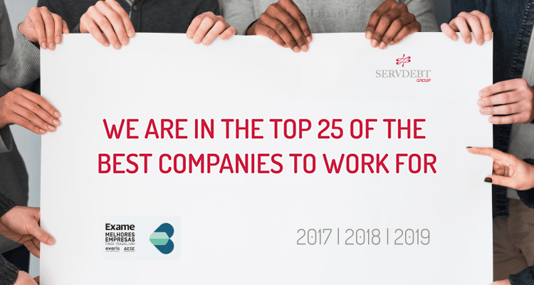 Servdebt in the TOP 25 of the Best Companies to Work For in Portugal